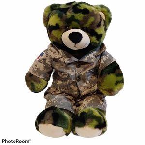 Build a bear teddy bear army camouflage army camo